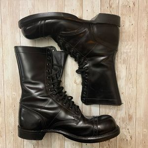 Corcoran Black Leather 9 1/2 E Combat boots